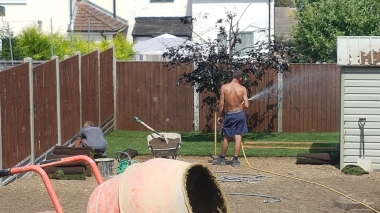 Lawn going down