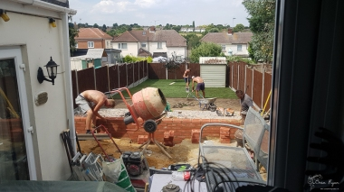 Now for walls and getting the turf down