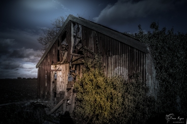 An abandoned barn at Cliffe, Rochester, Kent.