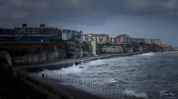 Rough seas at Cliftonville Bay