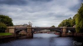 A photograph of one of the bridges that spans the River Ouse in York, West Yorkshire.