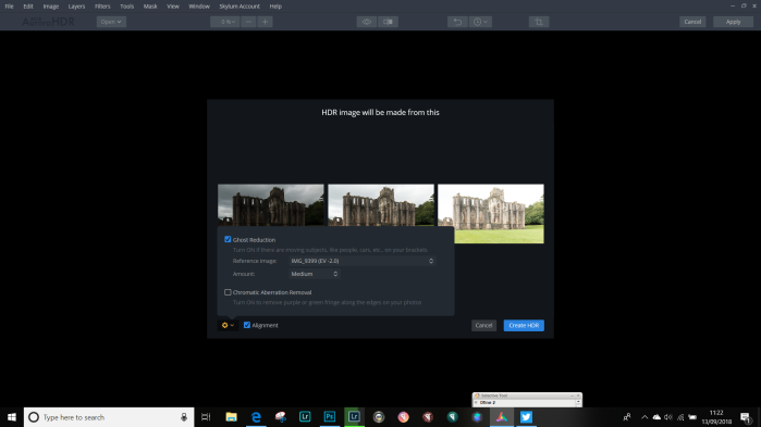 Settings for Aurora for HDr