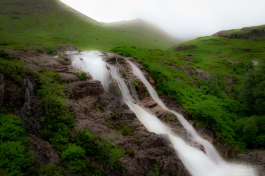 Waterfall on the main road as you go into Glencoe Village.