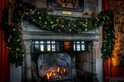 Christmas by the fire at Leeds Castle