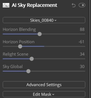 AI Sky Replacement - December BAC