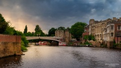 A photograph of the river ouse at York, photographed from one of the many river cruises.