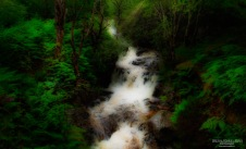 A waterfall at Loch Leven in Scotland.