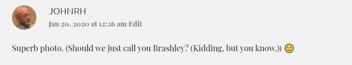 Brashley suggestion.