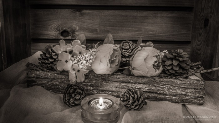 Tealight and flowers