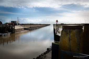 A photograph of Rye Harbour in East Sussex.
