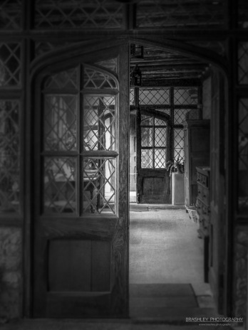A photograph of doors at Ightham Mote in Kent.