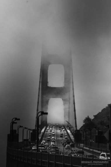 Golden Gate Bridge on a Foggy Morning back in May 2015.