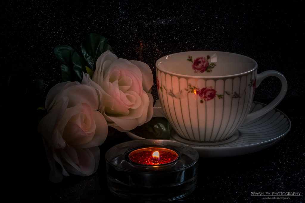 Cup and Saucer with Roses